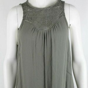 Mossimo Women's Tank Top Blouse Size M Solid Gray